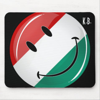 Smiling Hungarian Flag Mouse Pad