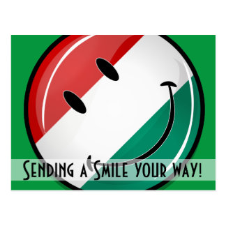 Smiling Hungarian Flag Postcard