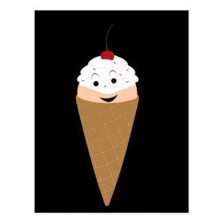Smiling ice cream postcard