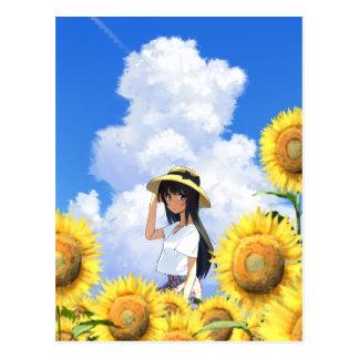 Smiling In Sunflower Fields Postcard