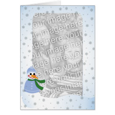 Smiling in the Snow Card at Zazzle
