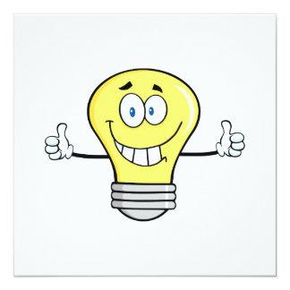 Smiling Incandescent Light Bulb Card