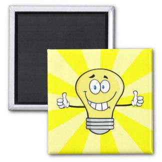 Smiling Incandescent Light Bulb Refrigerator Magnets