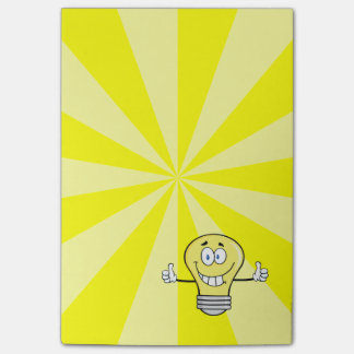 Smiling Incandescent Light Bulb Post-it® Notes