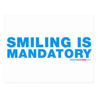 Smiling Is Mandatory Postcard