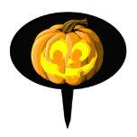 Smiling Jack O Lantern Halloween cake topper