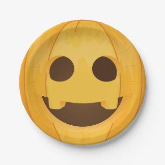 Smiling Jack O Lantern Halloween Paper Plate