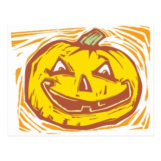 smiling Jack-o-Lantern Postcard