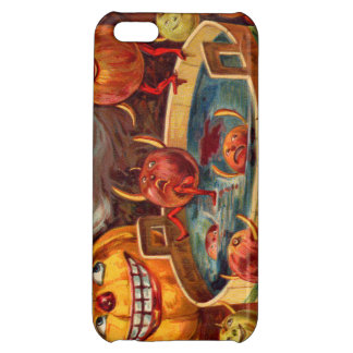 Smiling Jack O' Lantern Pumpkin Apple Cover For iPhone 5C