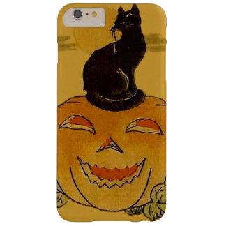 Smiling Jack O Lantern Pumpkin Black Cat Vine Barely There iPhone 6 Plus Case