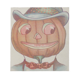 Smiling Jack O' Lantern Pumpkin Suit Notepad