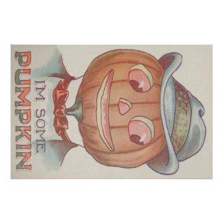 Smiling Jack O' Lantern Pumpkin Suit Photo Print