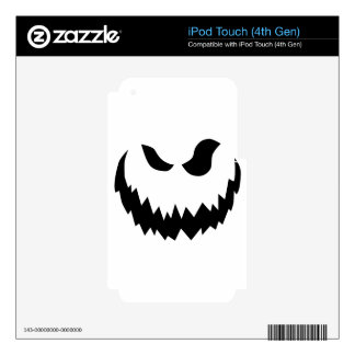 Smiling Jack-O-Lantern Skins For iPod Touch 4G