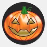 Smiling Jack O Lantern Stickers