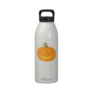 Smiling Jack O Lantern Water Bottle