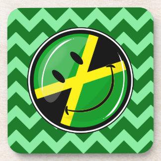 Smiling Jamaican Flag Cork Coaster Set(6)