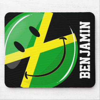 Smiling Jamaican Flag Mouse Pad