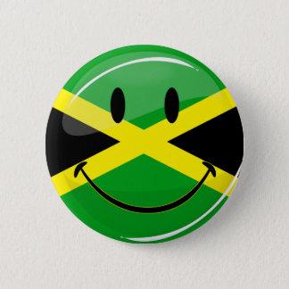 Smiling Jamaican Flag Pinback Button