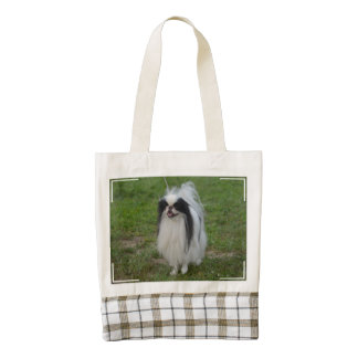 Smiling Japanese Chin Zazzle HEART Tote Bag