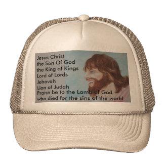 Smiling Jesus Baseball Cap Trucker Hat