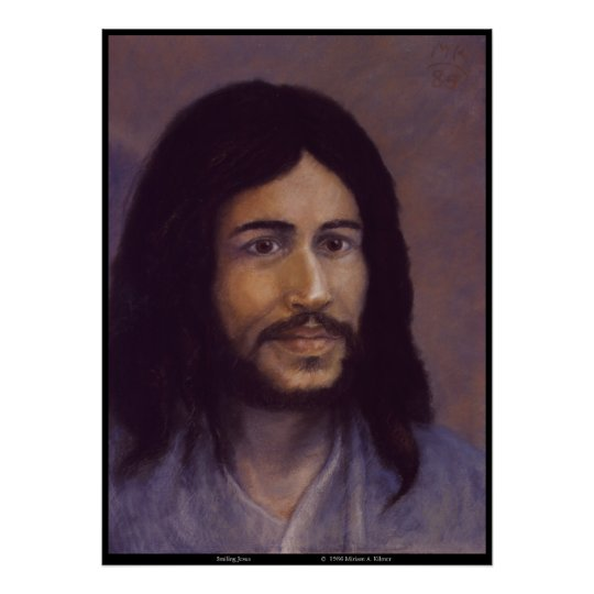 Smiling Jesus Jewish Jesus Image Poster Zazzlecom
