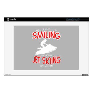 "SMILING JET SKIING W/END (wht) 13"" Laptop Skins"