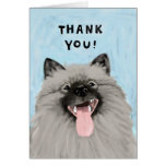 Smiling Keeshond Thank You Cards