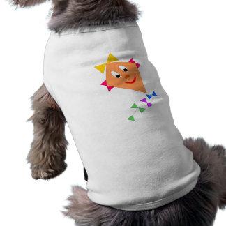 Smiling Kite Cartoon Art Pet T Shirt