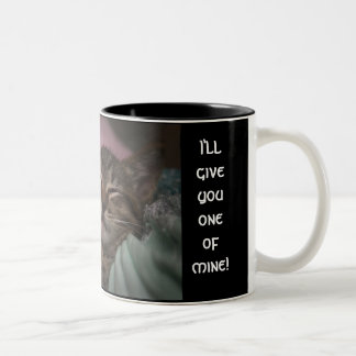 SMILING KITTEN Two-Tone COFFEE MUG