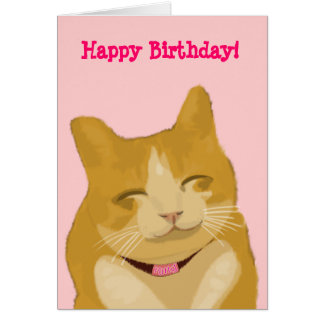 Smiling Kitty Cat Card