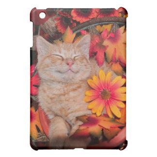 Smiling Kitty Cat Kitten ~ Fall Colors & Gerberas iPad Mini Cover