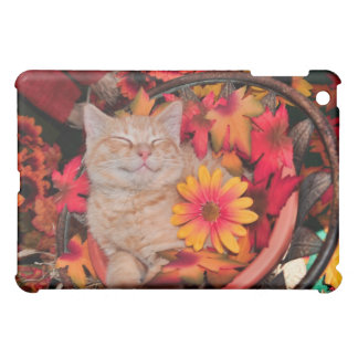 Smiling Kitty Cat Kitten ~ Fall Colors & Gerberas Case For The iPad Mini