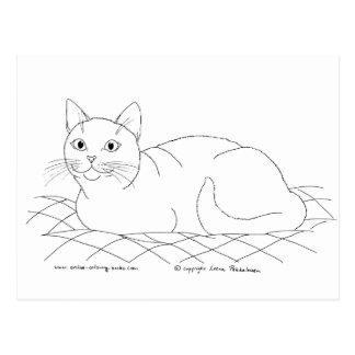 Smiling Kitty Postcard