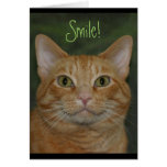 Smiling Kitty Stationery Note Card