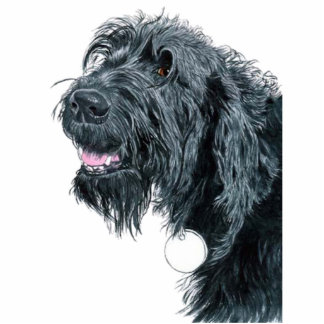 Smiling Labradoodle Sculpture Standing Photo Sculpture