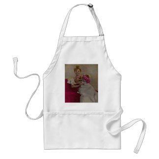 Smiling Lady from the 1900s Adult Apron