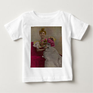 Smiling Lady from the 1900s Baby T-Shirt