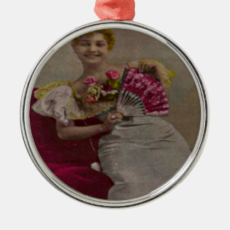 Smiling Lady from the 1900s Metal Ornament