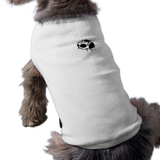 Smiling Ladybug  Black and White Mini - Pet Tee Shirt