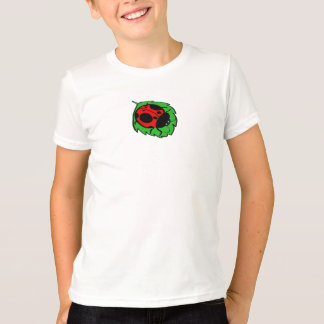 Smiling Ladybug on Green Leaf Mini - T-Shirt