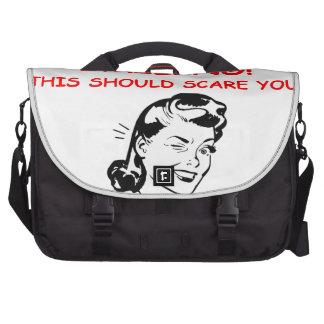 smiling laptop commuter bag
