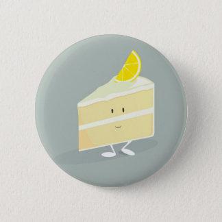 Smiling lemon cake slice button