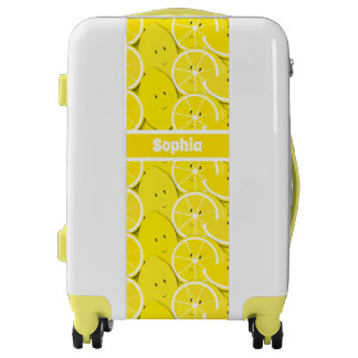 Smiling Lemon Cartoon | Luggage