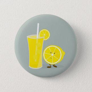 Smiling lemon with lemonade button