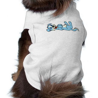 Smiling Light Blue Puppy Dog with Blaze Roll Over Tee