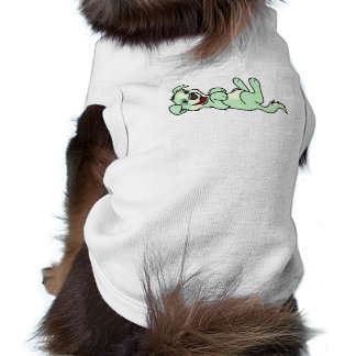 Smiling Light Green Puppy Dog with Blaze Roll Over T-Shirt