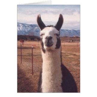 """Smiling Llama"" Stationery Note Card"