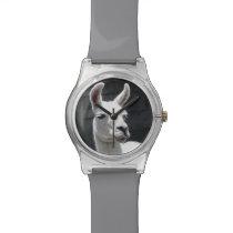 Smiling Llama Customizable Watch