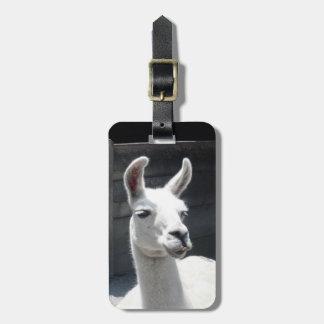 Smiling Llama Luggage Tag
