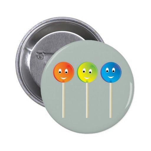 Smiling lollipops button